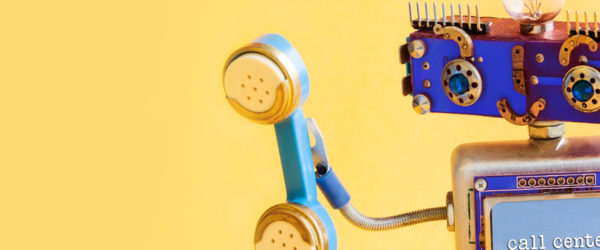 Robot call center ilustracja