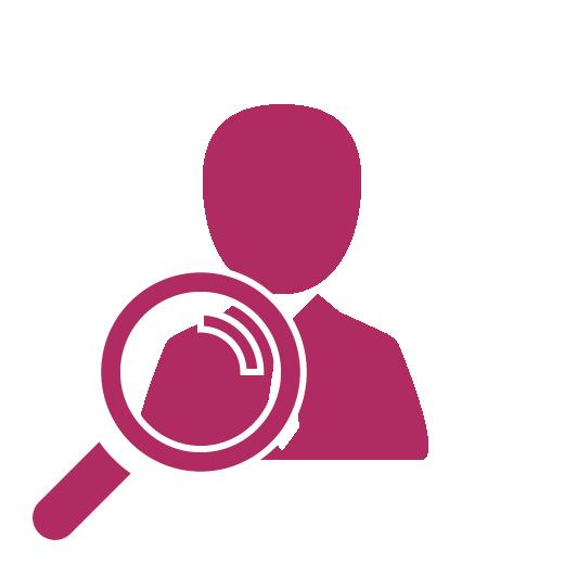 Sprawdź profil klienta, historię w CRM, ikona