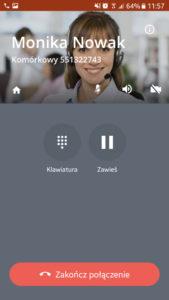 Call-eX Softphone: wybieranie