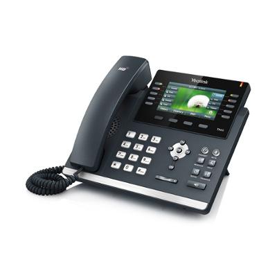 Telefon biurkowy, przewodowy, multimedialny