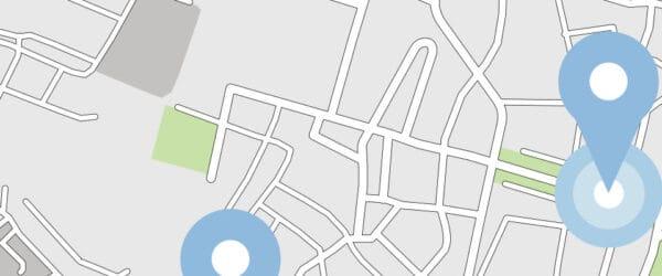 Mapa online - ilustracja