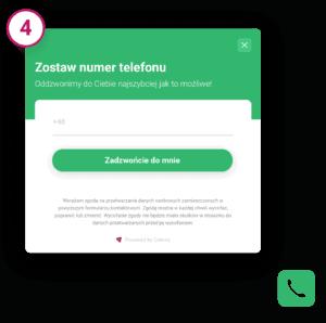 Call Back Widget - wizualizacja
