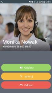 Call-eX Softphone: odbieranie spoza sieci (bez wideo)