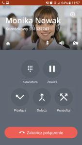Call-eX Softphone: odebrana opcje sekretarskie